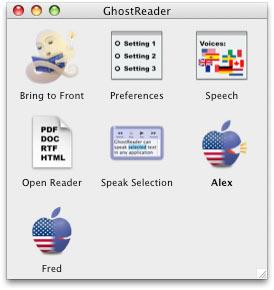 GhostReader interface
